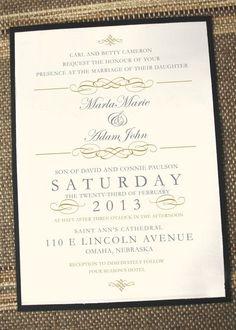 Elegant wedding invitations, forma wedding invitations, gold wedding…