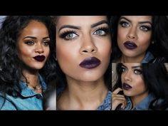 Achieved using Sigma brushes watch Sharifa Easmin's 'Rihanna Inspired Makeup Tutorial' - YouTube