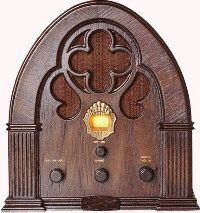 Antique Radio....we have the reproduction of this one.  Looks just the same!