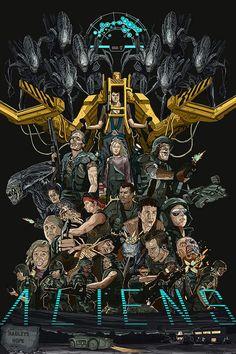 Alien 1979, Alien Film, Alien Movie Poster, Aliens Movie, Alien Art, Alien Vs Predator, Predator Movie, Alien Concept Art, Arte Horror