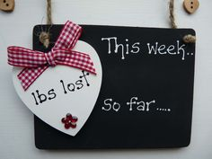 Weight Loss Diet Target Chalkboard Plaque/Sign by LivvyLoves, £5.25