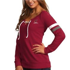 Arizona Cardinals Antigua Women s Foxy Lace-Up Sweatshirt – Cardinal   AZCardinals  NFLFanStyle Nhl 5c5762b8f