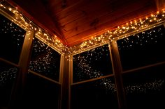 Sooooo doing this in the sunroom for Christmas.  beautiful, beauty, bed, bedroom, city
