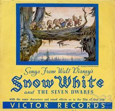 *SNOW WHITE and the SEVEN DWARF's ~ was the first film to ever release a motion-picture soundtrack.