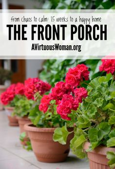 Cleaning the Front Porch @ AVirtuousWoman.org
