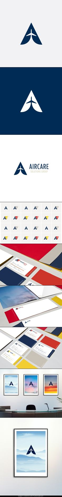 Re-brand for a private aviation company.  http://www.behance.net/gallery/Aircare-Solutions-Group/4233339 - created via http://pinthemall.net