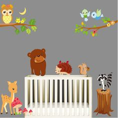 Aliexpress.com : Buy Free shipping Owl Animal Party children's room nursery decor removable wall stickers For kids rooms Stickers from…