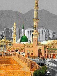 Bahar-e-Durood O Salam: Gumbad-e-Khazra / Masjid-e-Nabawi Al Masjid An Nabawi, Masjid Al Haram, Mecca Wallpaper, Islamic Wallpaper, Quran Wallpaper, Best Islamic Images, Islamic Pictures, Ramadan, Beautiful Live Wallpaper