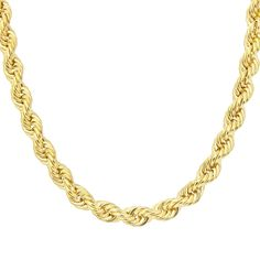 CiternaThick Rope 9 ct Yellow Gold Chain Necklace of 18 inch/46 cm Length