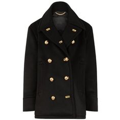 The Burberry Pea Coat found on Polyvore featuring outerwear, coats, jackets, burberry, lightweight pea coat, cashmere coat, burberry coat and peacoat coat