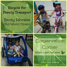 Bicycle for Family Transport - I love this post! Thank you Becky @Becky (kidworldcitizen.org)