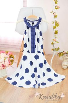 Small size SALE White polka dot spring summer sundress