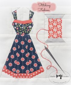 Stitching Fashion block designed for The Splendid Sampler Sew along by Charise Creates