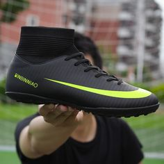 8167add76 Hot Offer Ankle High Tops Soccer Cleats Boots Football Boots Long Spikes    Short Spikes Men s Football Shoes Sneakers Indoor Turf Futsal