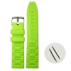 20mm Neon Green Color Silicone Jelly Rubber Unisex Watch Band Straps WB1059G20JB