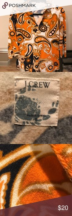 Vintage J crew Vintage J.Crew three-quarter sleeve V-neck shirt J Crew Tops