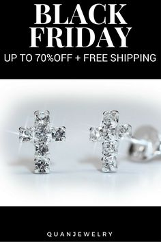We've got the #BlackFriday deal of the century! Up to 70% off on this Crystal Cross #Earrings. Get it here now: https://quanjewelry.com/blackfridaydeals/01 #BlackFriday #CyberMonday #Sale #Discounts #QuanJewelry