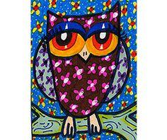 Owl Art Print, Art For Children, Kids Wall Art, Girls Room Decor, Owl Decor, Nursery Print, Brown Floral Owl by Paula DiLeo by AGirlAnOwlAndACat on Etsy https://www.etsy.com/listing/92291901/owl-art-print-art-for-children-kids-wall