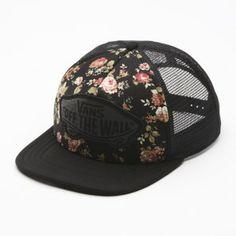 Floral vans trucker hat