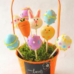 Easter Cakepops by theperfecttreats.com #Cakepops
