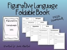 Use this Figurative Language Foldable Book to help your scholars master Figurative Language! Figurative Language Included: Simile, Metaphor, Alliteration, Oxymoron, Hyperbole, Idiom, Personification, Onomatopoeia, and Pun. FREE