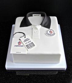 Moncler polo shirt fondant cake