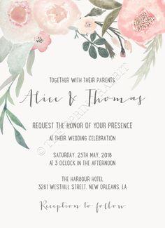 Druckbare Hochzeit Einladung Suite anpassbare von TheSpringRabbit