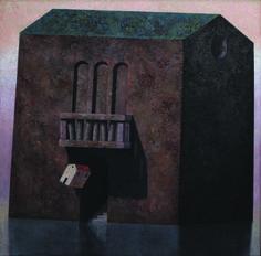 Matthias Brandes, Palazzo, 2013, olio e tempera su tela, 140 x 140 cm #contemporary #art #painting