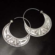 Traditional Vintage Tribal gypsy Indian moon bell earrings     jewelry accessories in Fashion Jewelry