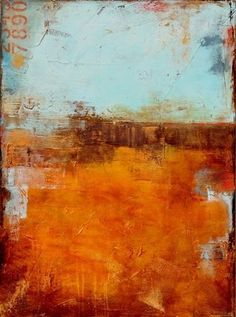 """Orange Abstract Art - """"A Moment Before"""" wall art by Erin Ashley available at Great BIG Canvas."""
