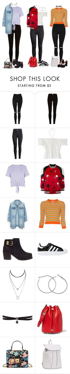 """""""Sin título #5440"""" by xoxominyeol ❤ liked on Polyvore featuring Topshop, H&M, Boohoo, Coach, LE3NO, Courrèges, ASOS, adidas Originals, Fallon and Alexander Wang"""