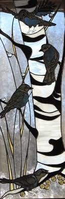 stained glass birch trees - Google Search