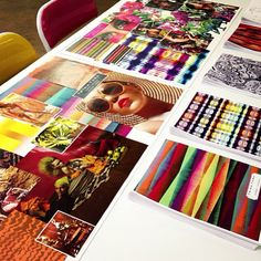 Summer 2014 inspiration boards for our merchandising meeting!