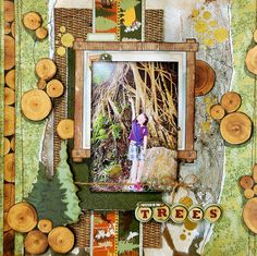 Nestled In The Trees Layout by Irene Tan using BoBunny Take A Hike collection. #BoBunny @scrapperlicious