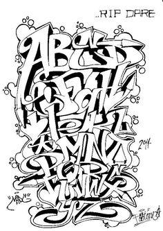 Graffiti Letters: 61 graffiti artists share their styles Graffiti Letters Styles, Graffiti Lettering Alphabet, Graffiti Writing, Tattoo Lettering Fonts, Graffiti Designs, Cool Lettering, Grafitti Alphabet, Graffiti Numbers, Lettering Styles Alphabet