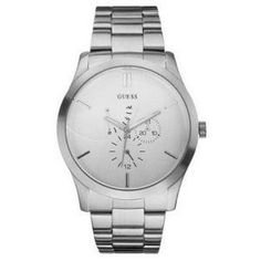 Guess Men's Analogue Watch -- Style #G400  Price: £85.00 GBP  Description:  Authentic Guess men's analogue watch with silver dial. Watch comes in it's original packaging.