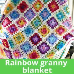Colourful granny square blanket – the pattern #afghan #crochet #grannysquare