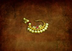 PNG (P N Gadgil & Sons)Buy Exclusive Gold Traditional Nath Designs or Pearl Nose Ring. Pure Moti Nath by online Diamond Jewelry, Gold Jewelry, Jewelery, India Jewelry, Jewelry Shop, Nose Ring Designs, Maharashtrian Jewellery, Copper Material, Gold Jewellery Design