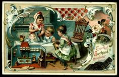 Новости Vintage Advertisements, Vintage Ads, Vintage Images, Suchard Chocolate, Decoupage, Candy Labels, Old Postcards, Trading Cards, Victorian