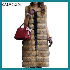 Hot Faux Fur Sleeveless Jacket 2017 Winter Thicken Women Long Faux Fur Vest Luxury Fake Fur Coats Fourrure Gilet abrigos de piel