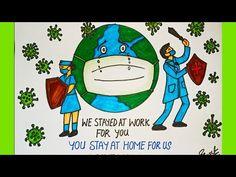 Drawing of Coronavirus Save Earth from Corona Virus Awareness Safety Poster Nurse Drawing, Drawing School, Girl Drawing Sketches, Girly Drawings, Save Earth Drawing, Save Earth Posters, Earth Drawings, Drawing Competition, Safety Posters