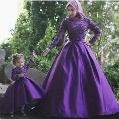 Purple Lace Applique Pageant Evening Dresses Women S Elegant Long Sleeve  Bridal Gown Special Occasion Prom Bridesmaid 683ef72d6228