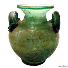Roman glass. the Olla urn.