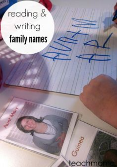 reading and writing family names is a super first step to writing! here are a few ways to make it fun for your kids | from teachmama.com