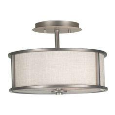 Scopello 2-Light Semi Flush Light Fixture | Overstock.com office $105