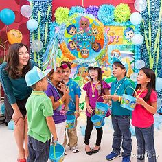 Ready, set, swing! Let each child take turns at pulling the piñata strings for a chance at releasing all the goodies!