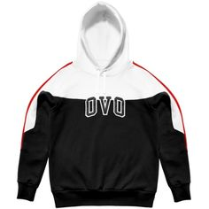 0a71786daa43 OVO COLOURBLOCK HOODED SWEATSHIRT October s Very Own ( 168) ❤ liked on  Polyvore featuring tops