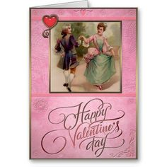 The lady and gentleman dancing. Valentines Day - Greeting Cards in Vintage Style Vintage Valentine Cards, Valentine Day Cards, Vintage Style, Vintage Fashion, Valentine's Day Greeting Cards, Lady And Gentlemen, Gentleman, Dancing, Create Your Own