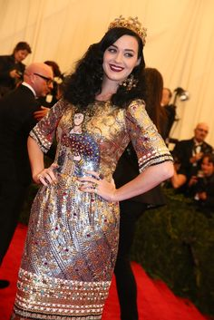 Katy Perry in Dolce & Gabbana at the Met Gala [Photo by Evan Falk]