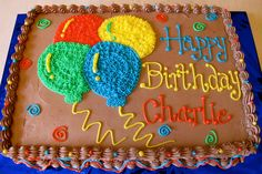 birthday balloons and cake pictures. Birthday Balloons and Cake Pictures Tortelicious Ballon Birthday Cake Cake of the Week Strawberry # . Balloon Birthday Cakes, Birthday Sheet Cakes, Balloon Cake, Cake Icing, Cupcake Cakes, Sheet Cakes Decorated, Sheet Cake Designs, Cake Decorating Designs, Cake Pictures